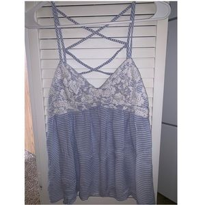 Light blue cami top
